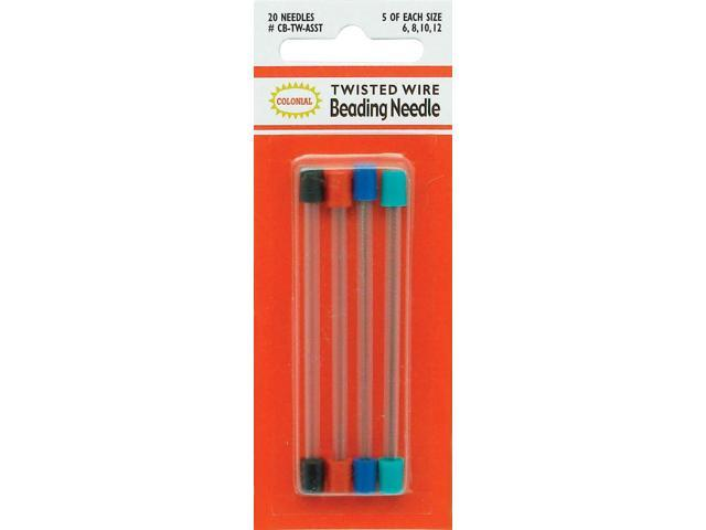 Twisted Wire Beading Needles 20/Pkg-5 Each of #6, #8, #10, #12
