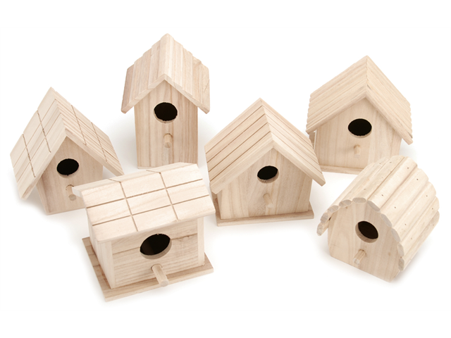 Wood Birdhouse Assortment-Assorted Styles & Sizes