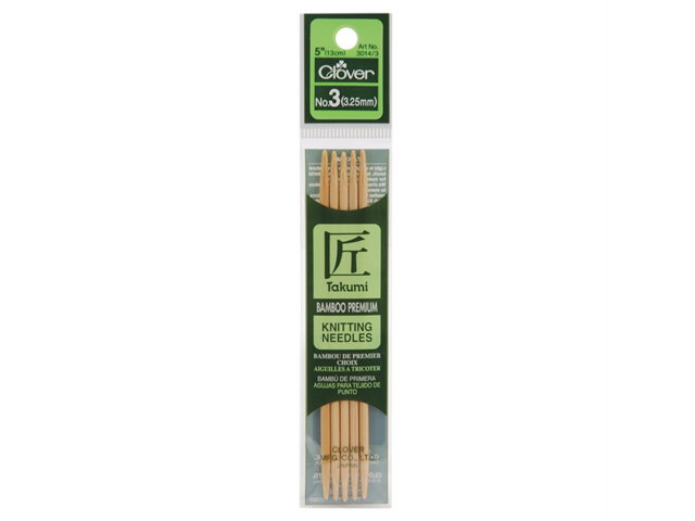 Bamboo Double Point Knitting Needles 5