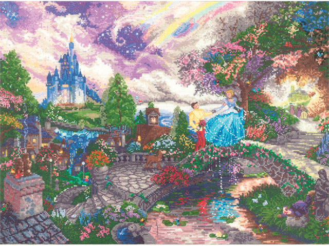 Disney Dreams Collection By Thomas Kinkade Cinderella Wishes-16