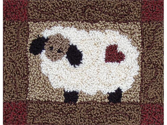 Sheep Punch Needle Kit-3-3/4