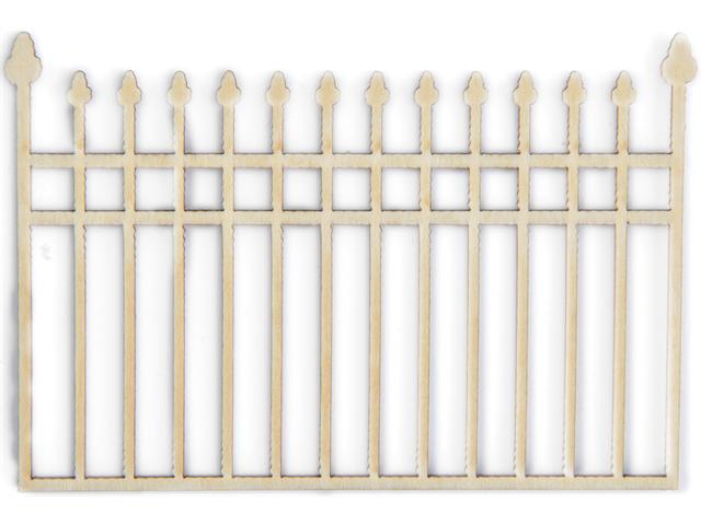 Wood Flourishes-Iron Fence
