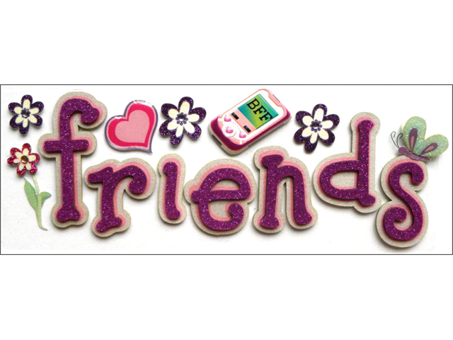 Jolee's Boutique Title Wave Stickers-Friends