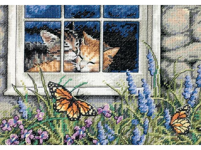 Gold Collection Petite Feline Love Counted Cross Stitch Kit-7
