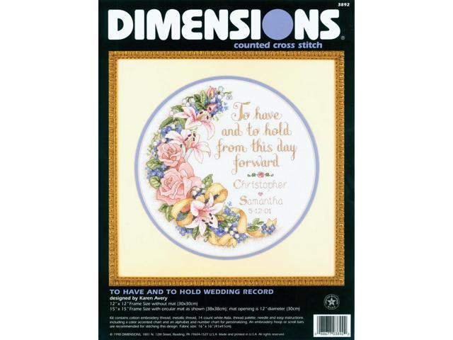 To Have And To Hold Wedding Record Counted Cross Stitch Kit-12