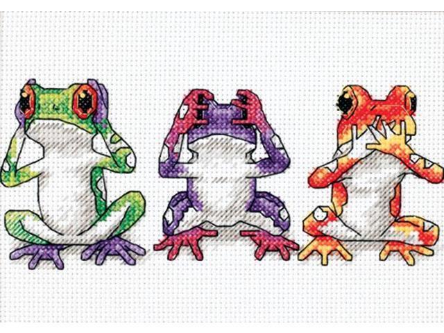 Jiffy Treefrog Trio Mini Counted Cross Stitch Kit-7