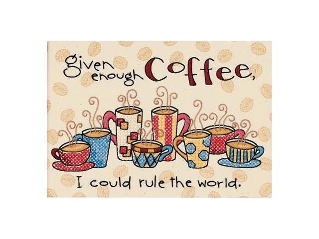 Enough Coffee Mini Stamped Cross Stitch Kit-7