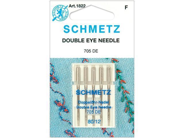 Double Eye Machine Needles-Size 80/12 5/Pkg