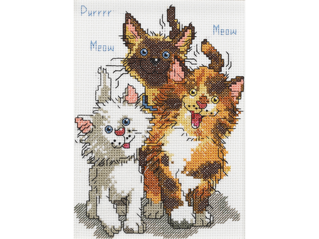 Suzy's Zoo Cattails Of Duckport Mini Counted Cross Stitch Ki-5