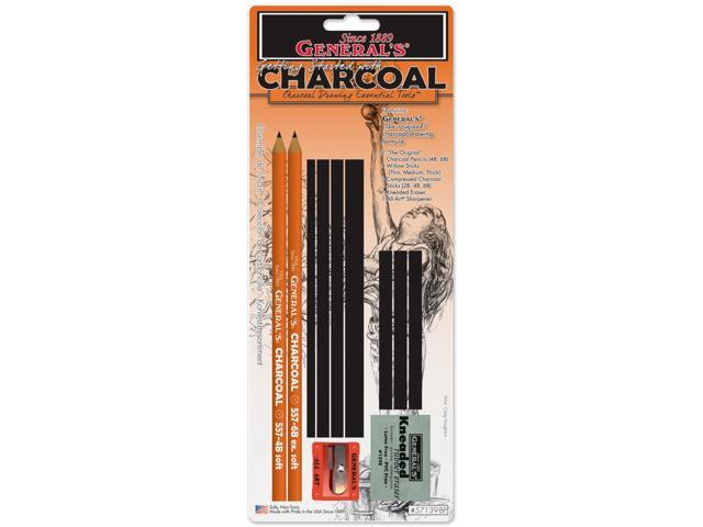 Charcoal Drawing Essentials Tool Kit-11 Pieces