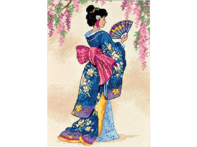 Gold Collection Petite Elegant Geisha Counted Cross Stitch K-5