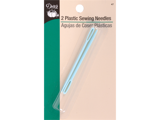 Plastic Sewing Needles -2/Pkg