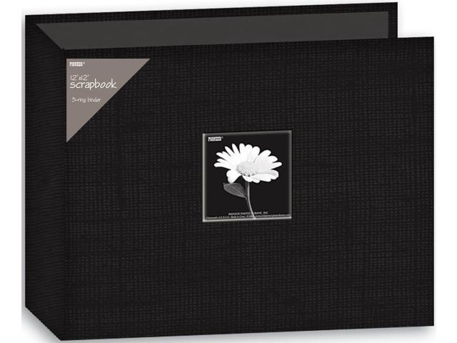 Alvin T12CBF-BK 12 x 12 Dring Fabric Scrapbook - Black