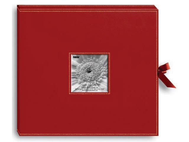 Pioneer SBX-12RD Sewn Leatherette D-Ring Scrapbook Box 13