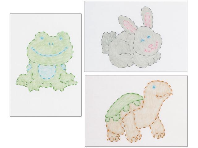 White Stamped Beginner Embroidery Kit 6