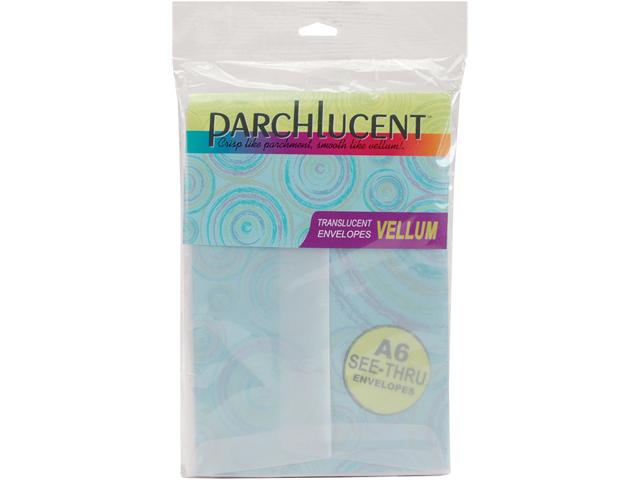 Parchlucent Vellum Envelopes A6 25/Pkg-Clear, 4.75
