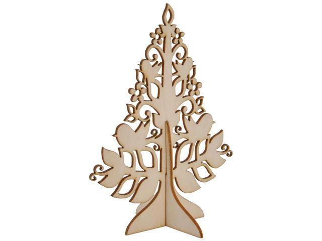 Wood Flourishes-Small Stand-Up Tree 4.75