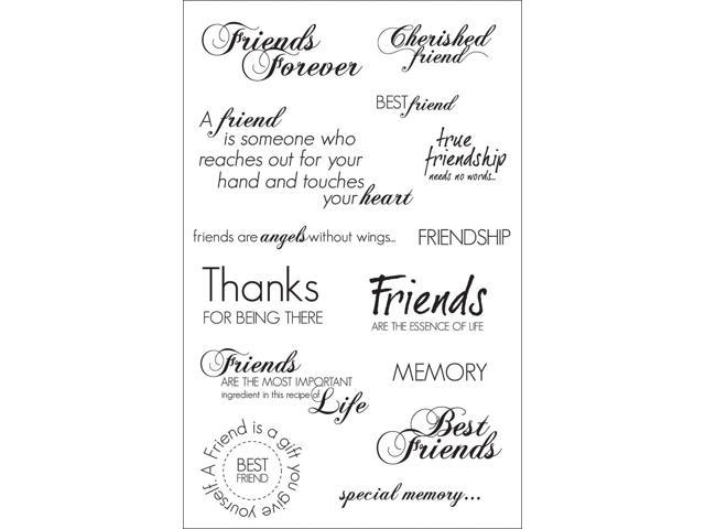 Clear Stamp-Friendship Sentiments