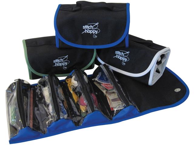 Stitch Happy Fold N Go Notions Box-Black/Blue