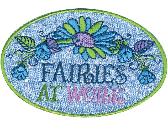 Disney Tinker Bell Iron On Applique-Fairies At Work 3