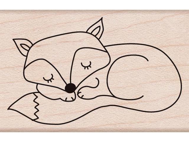 Hero Arts Mounted Stamp-Sleeping Fox