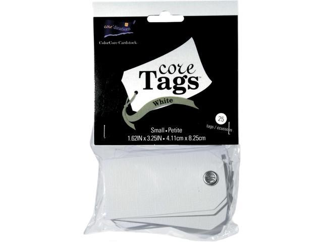 Small White Tags 25/Pkg-1-5/8