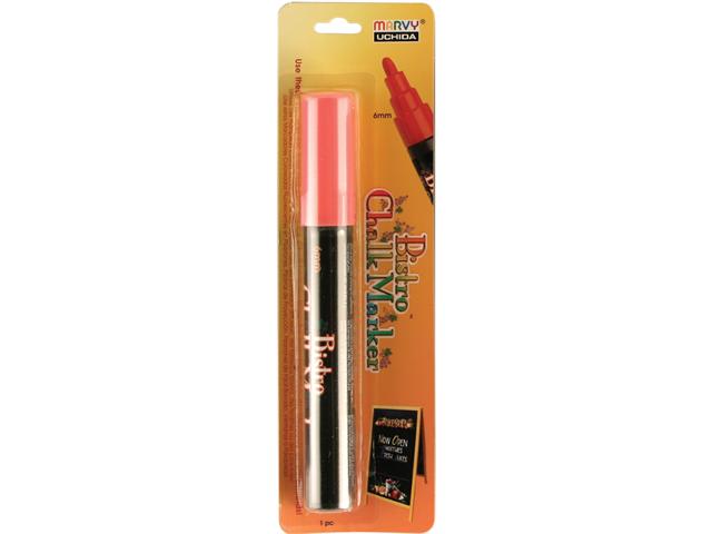 Bistro Chalk Marker 6mm Bullet Tip 1/Pkg-Fluorescent Red
