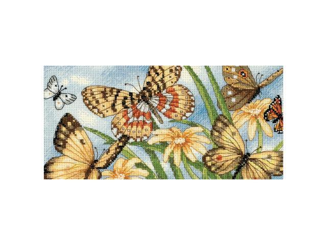 Gold Collection Petite Butterfly Vignette Counted Cross Stit-8