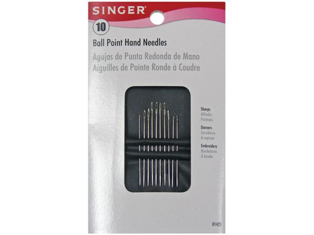 Ball Point Hand Needles-Assorted 10/Pkg