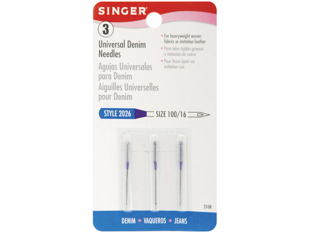 Jean & Denim Machine Needles-Size 16 3/Pkg