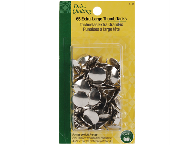 Dritz Quilting Extra Large Thumb Tacks-65/Pkg