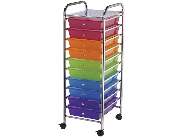 Blue Hills Studio SC10-MC Storage Cart w/10 Drawers 13