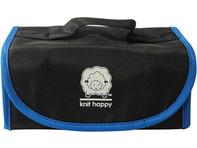 Knit Happy Fold 'n Go Notions Box-Black/Blue