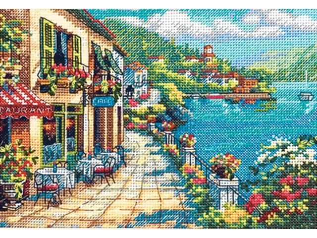 Gold Collection Petite Overlook Cafe Counted Cross Stitch Kt-7