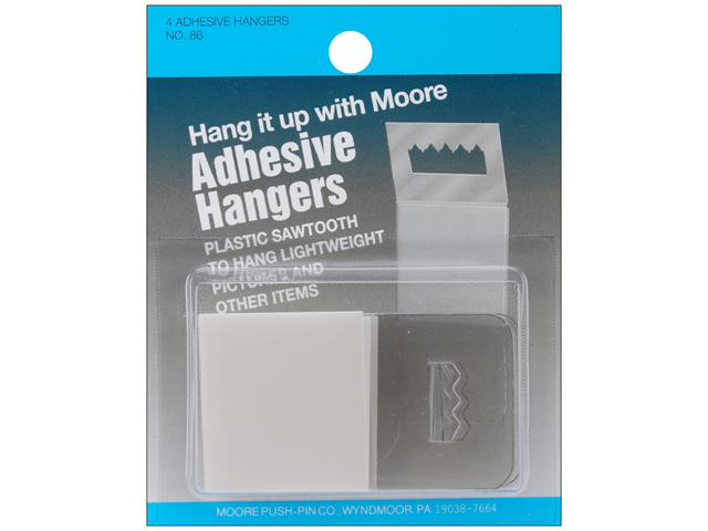 Adhesive Plastic Saw Tooth Hangers 4/Pkg-