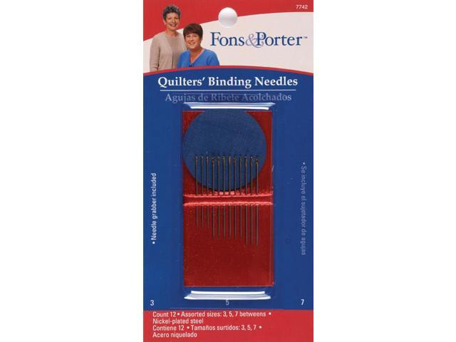 Fons & Porter Hand Binding Needles -Sizes 3/5/7 12/Pkg