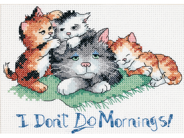 I Don't Do Mornings Mini Counted Cross Stitch Kit-7