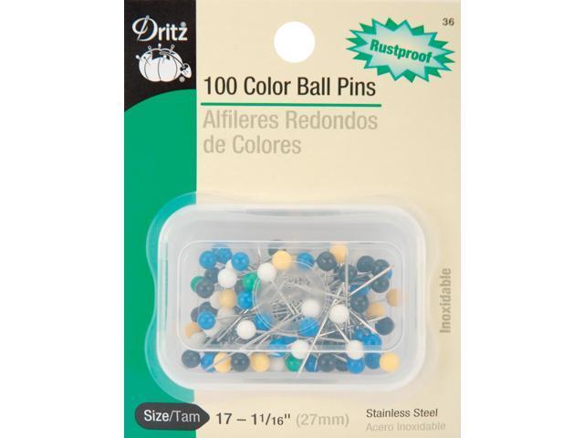Color Ball Pins-Size 17 100/Pkg
