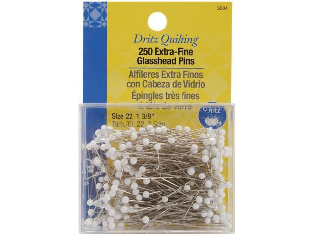 Dritz Quilting Extra Fine Glass Head Pins-1-3/8