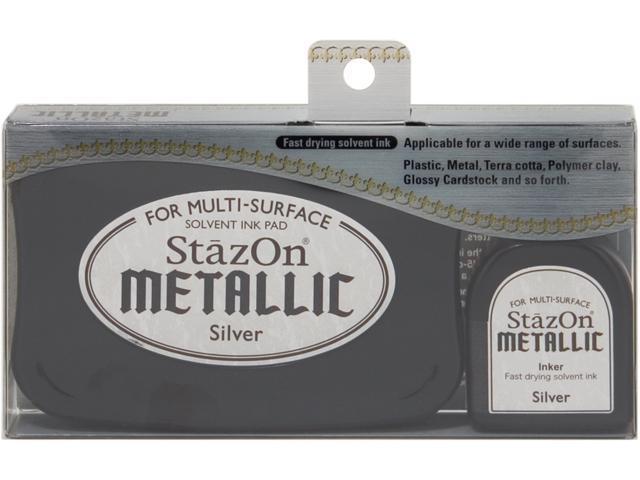 Alvin SZ192 Stazon Metallic with Reink - Silver