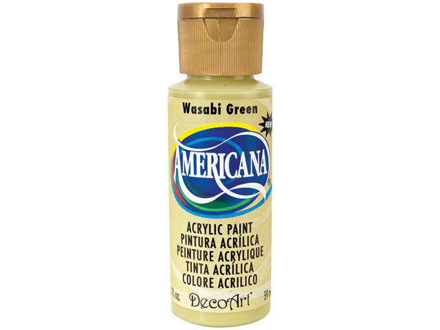 Americana Acrylic Paint 2 Ounces-Wasabi Green/Opaque