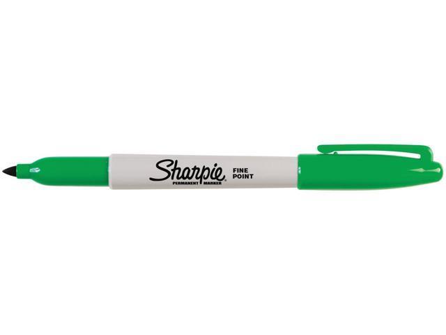 Sharpie Fine Point Permanent Marker Open Stock-Green