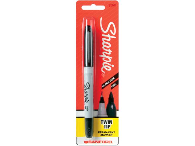 Sharpie Twin Tip Permanent Marker 1/Pkg-Black