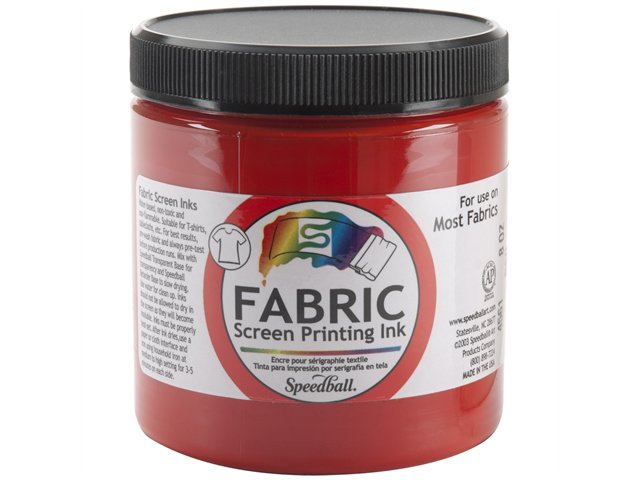 Fabric Screen Printing Ink 8 Ounces-Red