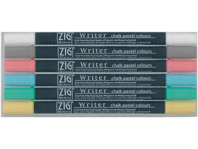 Zig Memory System Writer Chalk Pastel Dual-Tip Markers 6/Pkg-