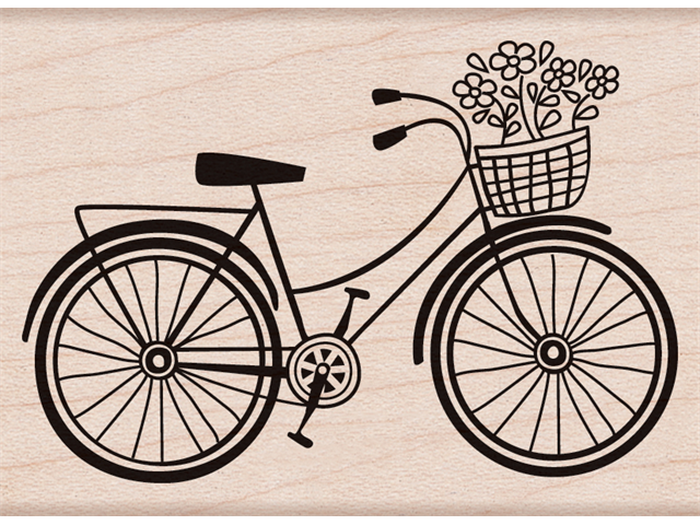 Hero Arts Mounted Stamp-Bicycle