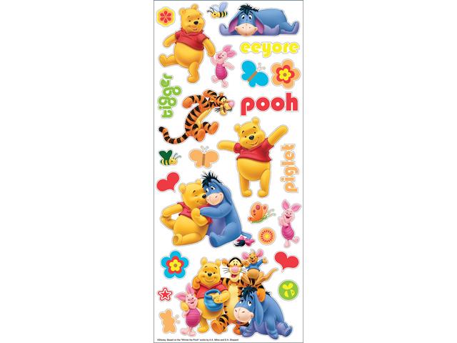 Disney Large Flat Stickers-Pooh & Friends