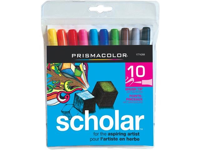 Prismacolor Scholar Brush Marker 10/Pkg-