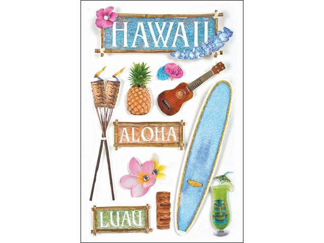 Travel 3-D Stickers-Hawaii