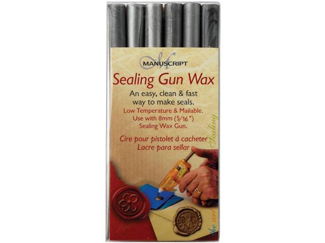 Sealing Gun Wax Stickers 6/Pkg-Silver